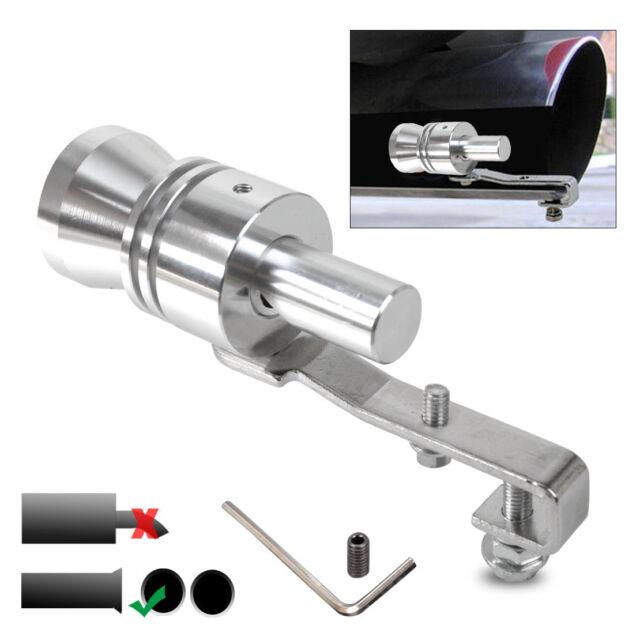 Universal Aluminium Turbo Sound Auspuff Pfeife Schalld/ämpfer Auto Auto Fahrzeug Lautes Abblaseventil Sound Roar Maker Simulator Rohr Pfeife M-Schwarz Turbo Sound Simulator Pfeife