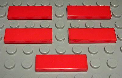 Sezione Speciale Lego Piastrella-tessera 1x3 Rosso 5 Pezzi (665)- Bello E Affascinante