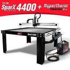 Stv Cnc Sparx 4400 4x4 Plasma Cutting Table Hypertherm Powermax45 Xp Machine