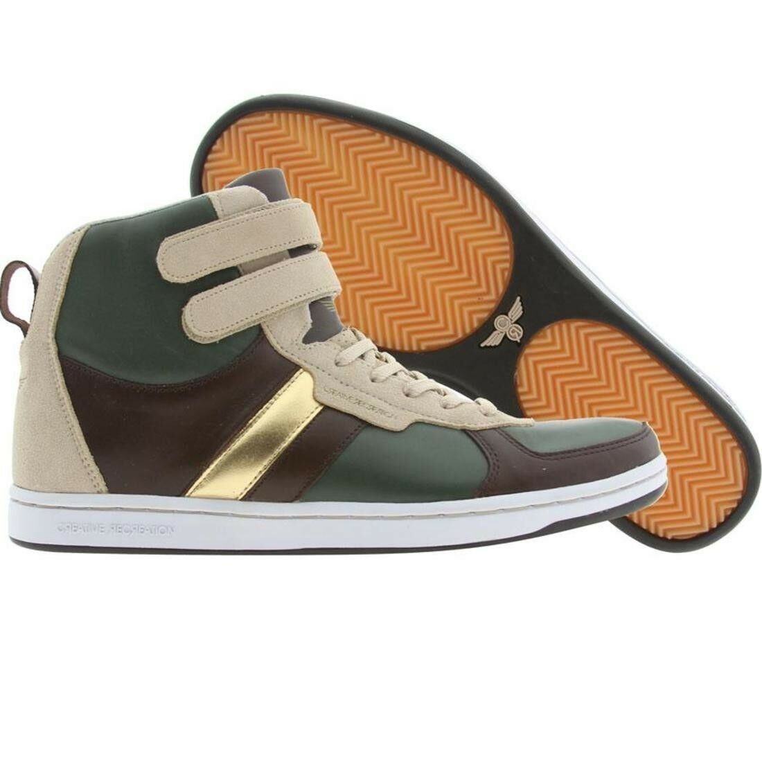 .99 Creative Recreation Dicoco (forest / brown / khaki / gold) 3948-FBKGD Scarpe classiche da uomo
