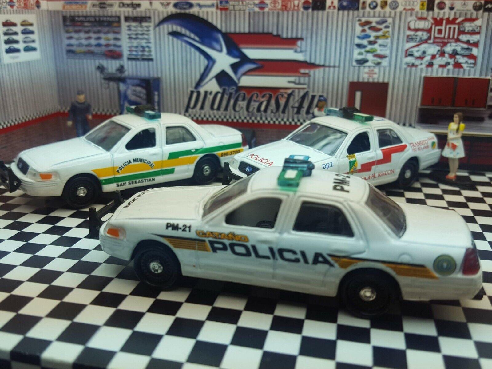 Lote de 6 Ruedas De Tigre 2002 Ford Crown Victoria Puerto Rico Coche de Policía Municipal