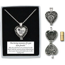 Memorial Locket Necklace Always in My Heart Pet Dog In Loving Memory Ash Urn New