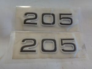 "SEA RAY 205 WHITE GOLD BLACK RAISED DECAL PAIR 5 1//2/"" X 1 5//8/"" MARINE BOAT"