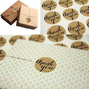 "120pcs Round /""Thank you/"" Paper Sticker Label Envelope Packaging Sealing Sticker"