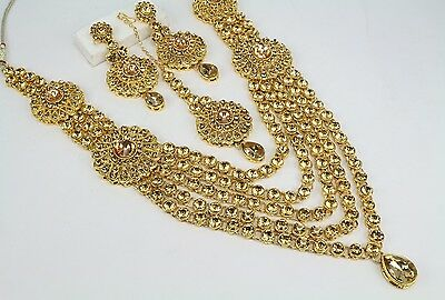 Jewelry & Watches Smart New Indian Fashion Jewelry Kundan Long Rani Har Necklace Earring Tikka Set Women Ethnic, Regional & Tribal