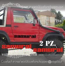 2 ADESIVI PORTIERA FUORISTRADA SAMURAI 4X4 SUZUKI OFF ROAD JEEP