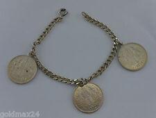"""Münz-Charivari - Trachtenkette mit 3 Münzen """"1 Krone 1899 Franz Josef I."""""""