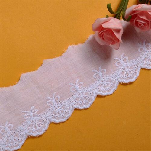 1 Yard Cotton Floral Lace Trim Ribbon Fringe Fabric Garment DIY Sewing Craft