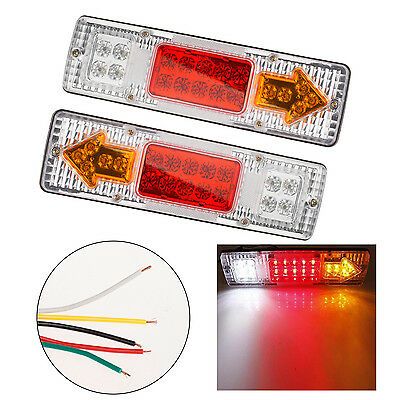 2x 12V Led Truck Trailer Caravan Van Rear Tail Stop Reverse Indicator Light PC36