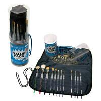 Royal Brush Langnickel Soft Grip Brush Set Value Pack, New, Free Shipping