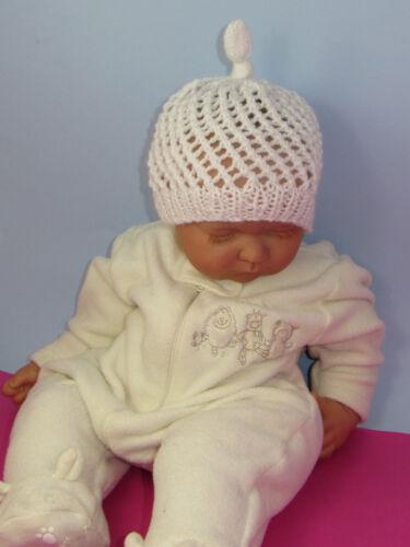 Impreso instructions-baby Simple Encaje Stitch topknot Skullcap Tejer patrón