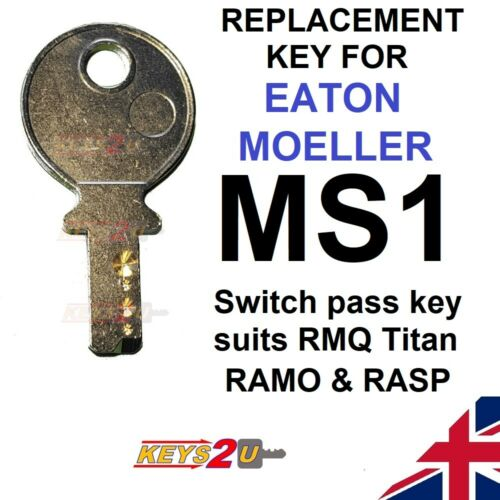 EATON MOELLER MS1 Replacement Spare Key RMQ TITAN RAMO RASP