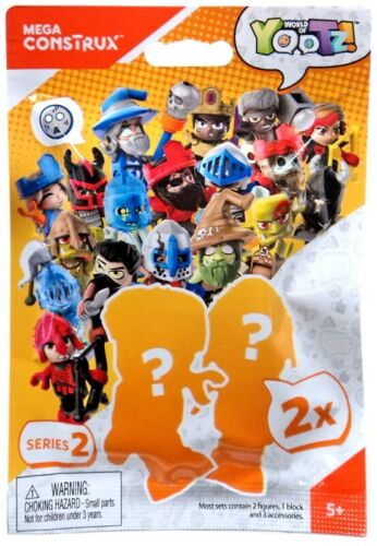 Mega CONSTRUX World of yootz Series 2 Mystery Pack 2 Mini Figures per pack!