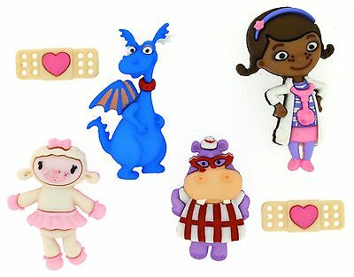 Jesse James Dress It Up Buttons ~ LICENSED - DISNEY DOC MCSTUFFINS
