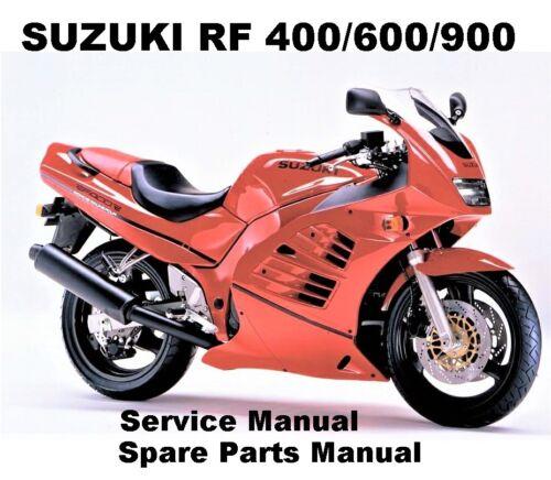 SUZUKI RF 400 600 900 Owner Service Workshop Repair Parts Manual PDF on CD-R
