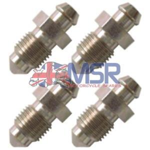 Brake-Caliper-Bleed-Screw-Nipple-M10-x-1-00mm-4-PACK