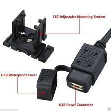 12V USB Power Supply Port Motorbike GPS Mobile Charger Socket UK