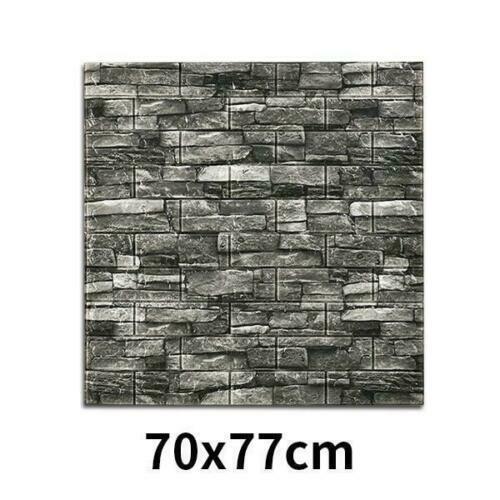 10 Pcs 3D Wall Sticker Tile Brick Self-Adhesive Wallpaper Waterproof Foam DIY