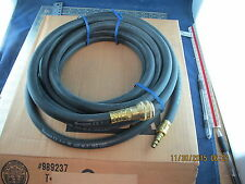 3//8 x 25/' Thermoid Air Line Hose With Quick Connect Fittings 150 PSI Air Or Wate
