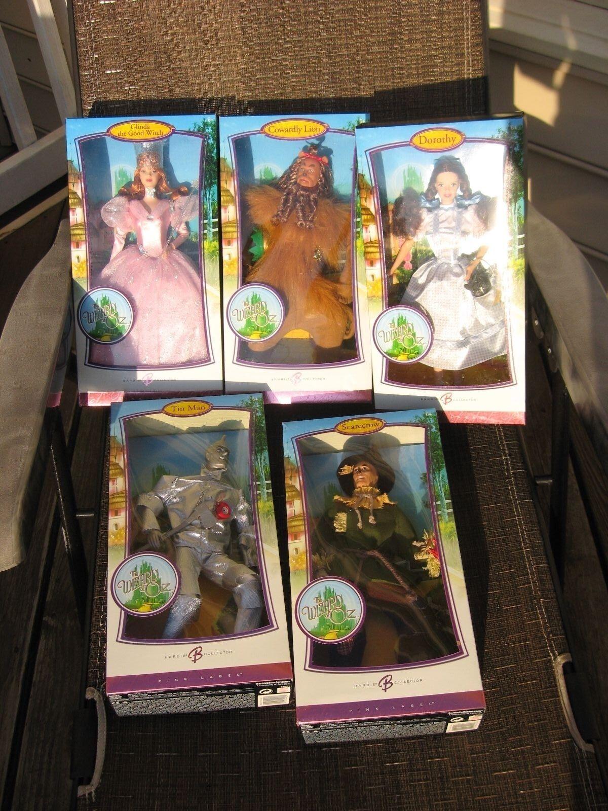 El Mago De Oz. Barbie Colección 2006 Juego De 5. rosado Label