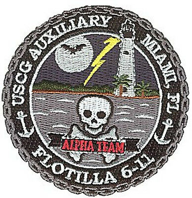 Auxiliary Flotilla 6-11 Alpha Team Miami Florida small W4723 Coast Guard patch