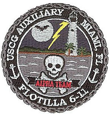 Auxiliary Flot 6-11 Ateam FL sm W4723 Coast Guard patch