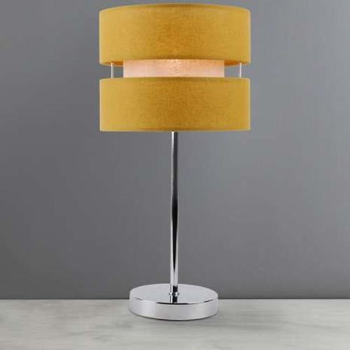 Table Light Lamp Shade Frea Ochre Mustard Yellow Home Bedside Lounge Lighting