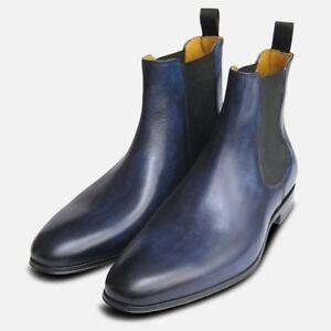 scuro da Stivali blu anticato Chelsea uomo WwT0WIq61