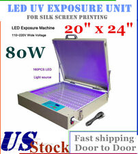 20 X 24 80w Led Uv Exposure Unit Uv Light Exposure For Silk Screen Printing