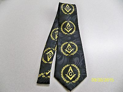 Mason, Masonic, Freemasonry, Fraternal, square  compass quality mens necktie #34