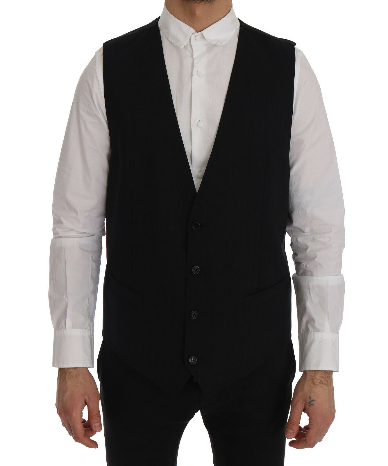 Nuevo Dolce & Gabbana Personal Chaleco Lana Farbe Negro Elástico IT54/ US44/ XL
