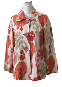 3 Sisters Swing A-Line Jacket Blazer Button Front LS Ombre Lined Size S NWT $230