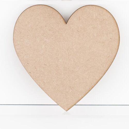 Formas de Corazón de Madera Mdf 3mm de espesor Etiquetas Placas Adornos Decoración Craft