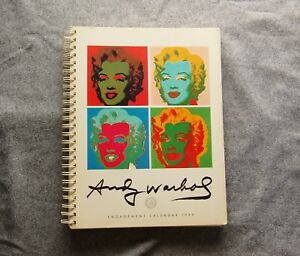 andy warhol engagement calendar 1990 with illustrations and weekly quotes by andy warhol