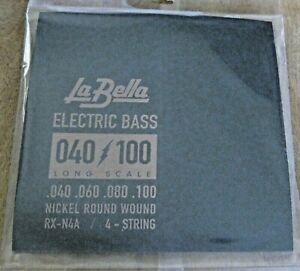 La-Bella-RX-N4A-Long-Scale-Electric-Bass-Strings-40-100-Nickel-Round-Wound