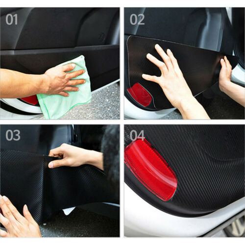 Felt Gray Car Door Scratch Anti Kick Cover Mask For HYUNDAI 2016-2019 IONIQ