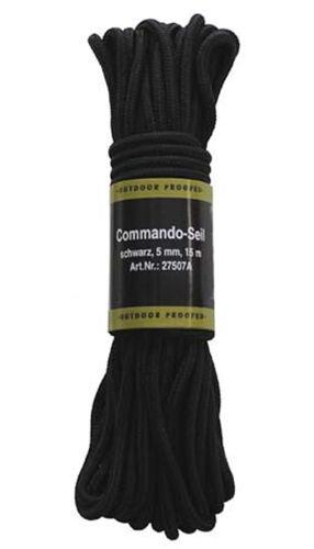 MFH Commando-Seil Allroundseil Tau Flechtleine Schwarz Coyote 15m 5//7//9mm