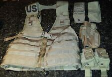 Coyote MOLLE FLC Vest With Pouches and Holster