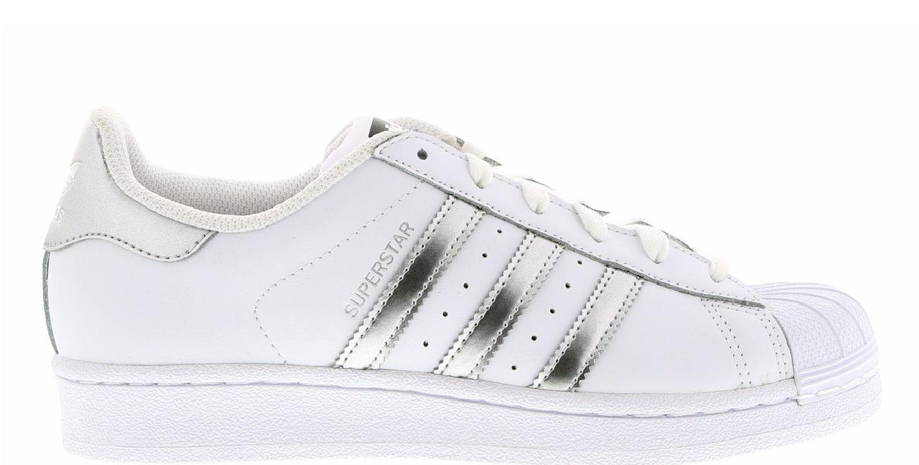 Adidas Superstar blancoo Metálico Plata Niña Mujer Zapatillas Todas Tallas AQ3091