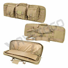 "VISM NcSTAR Tactical 36"" Padded Double Carbine Rifle Weapons Gun Case Bag Tan"