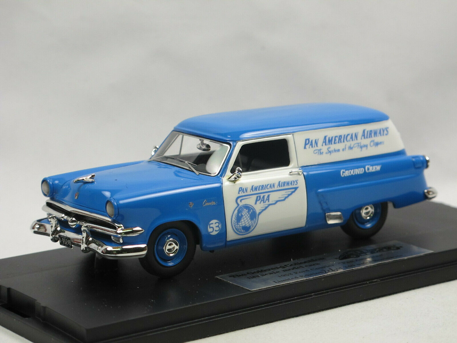 goldvarg Collection GC-PAA-001 1953 Ford Courier PanAm Airways 1 43