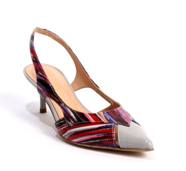 Isabelle 154 Multi-Farbe Patent Leather Slingback Slingback Slingback Pointy Pumps 36.5   US 6.5 b77343