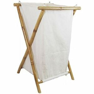 New Bamboo Canvas Large Laundry Hamper Tiki Tropical Beach