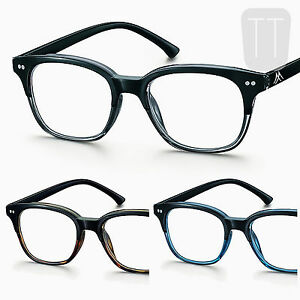 NEW-LARGE-FULL-LENS-RIMMED-READING-GLASSES-SPRUNG-HINGE-1-1-5-2-0-2-5-3-3-5