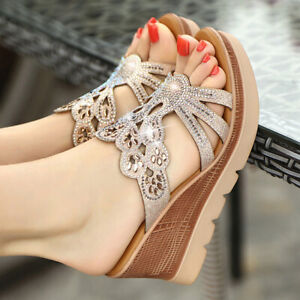 Women-Summer-Casual-Platform-Sandals-Ladies-High-Heels-Wedge-Open-Toe-Shoes-Size