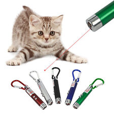 LED Lazer 3in1 Mini Red Laser Pointer 2 LED Flashlight UV Torch With Keychain G