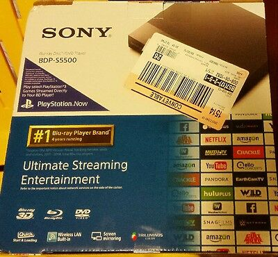 New Sony 3D Blu-Ray Player with Wi-Fi  Playstation Streaming - Black (BDPS5500)