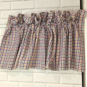 Longaberger Window Valance Blueberry Plaid 100 Cotton 72