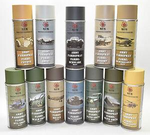 ARMY-Farbspray-matt-MFH-Militaerlack-Militaerfarbe-400ml-Spruehdose-Spraylack-Farbe