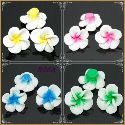 F362-365 Fimo flor diferentes color 15mm//6 pieza perla Polimer Clay 6 sück